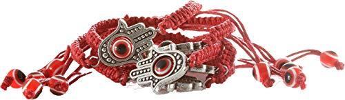body-soul-n-spirit recolecta 5 - Khamsa Grande contra el Mal de Ojo Pulseras de Cuerda roja