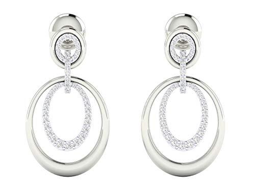 VVS Diseño de lujo Pendientes de aro Diseño 0.719 Ctw Diamante Natural Con 18K Blanco/Amarillo/Oro Rosa Pendientes Con Certificado IGI