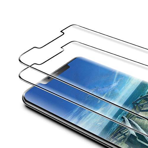 GSCREE [2 Stück] Panzerglas Schutzfolie Kompatibel mit Huawei Mate 20 pro, [Anti-Kratzen] [9H Festigkeit] [3D Curved Volle Bedeckung] Panzerglasfolie Bildschirmschutzfolie für Huawei Mate 20 pro