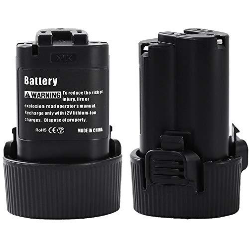 2 X Dosctt 3000mAh Batteria Sostituzione per Makita BL1013 10,8V 3,0Ah Li-ion Batteria di Ricambio BL1014 194550-6 194551-4 DF030DW DF030D DF030DWX DF330D TD090D TD090DWE TD090DWX
