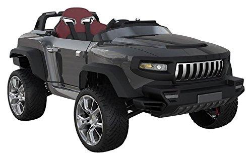 Henes BROON T870 Kinder Elektroauto schwarz mit Tablet PC 24 Volt Allrad