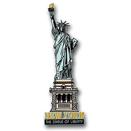 New York City Statue of Liberty Jumbo Magnet by Classic Magnets, Collectible Souvenirs Made in The USA