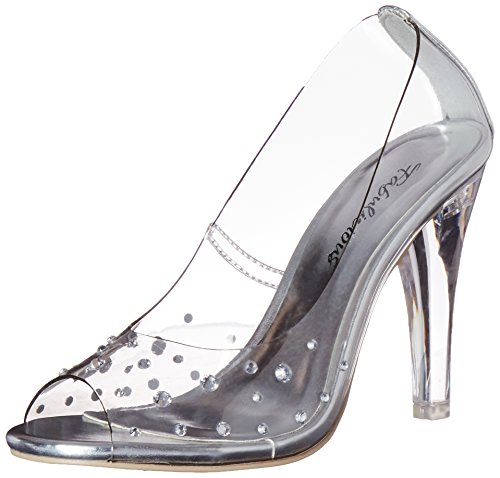 Pleaser Clearly 420, Damen Pumps, Transparent (Clr Lucite), 39 EU