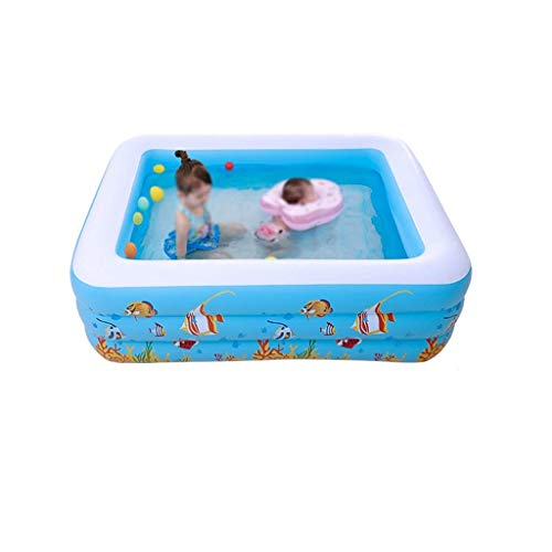 NMBD Swimming Inflatable Pool, Summer Water Park Toy Pool Kids Adult Pool Beach Party Decoration Props Pool Indoor Lounge Family Water Park (Size : 180 * 140 * 60cm) KAIRUI (Size : 180 * 140 * 60cm)