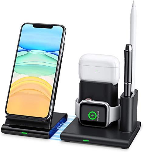 caricatore wireless 4 in 1 apple Lecone Supporto Caricatore Wireless 4 in 1 Stand per Apple Watch