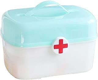 LLSDD プラスチック薬箱薬収納ボックスポータブル救急箱家庭用薬収納ボックス