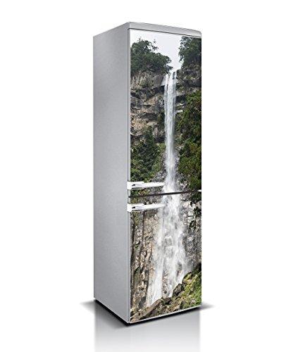 Vinilo para Frigorífico Cascada Varias Medidas 185x70cm | Adhesivo Resistente y de Facil Aplicación | Pegatina Adhesiva Decorativa de Diseño Elegante