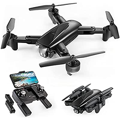 SP500 Foldable GPS FPV Drone with 2K HD Camera Live Video for Beginners, RC Quadcopter with GPS Return Home, Follow Me, Gesture Control, Circle Fly, Auto Hover & 5G WiFi Transmission