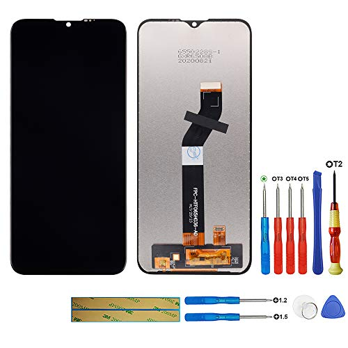 swark LCD Display Kompatibel mit Motorola Moto G8 Power Lite XT2055 2 Schwarz Ohne Rahmen LCD Display Touchscreen Digitizer Assembly Glas Tools