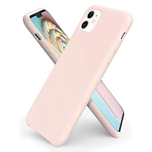 ORNARTO iPhone 11 Silikon Hülle, Hülle Ultra Dünne Flüssig Silikon Handyhülle Schutz für Apple iPhone 11 (2019) 6,1 Zoll -Rosa