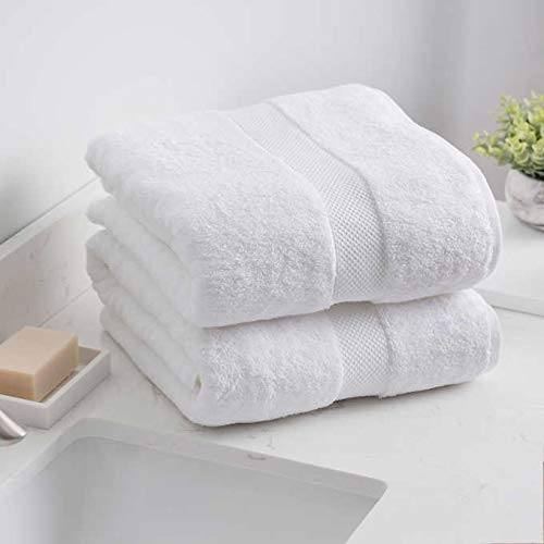 Charisma New Bath Sheet Bundle Set | 2 Luxury Bath Sheets 35' W X 70' L (White)