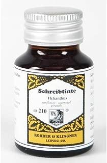 Rohrer & Klingner Writing Ink - 50 ml Bottle - Helianthus (Sunflower Yellow) by Rohrer & Klingner