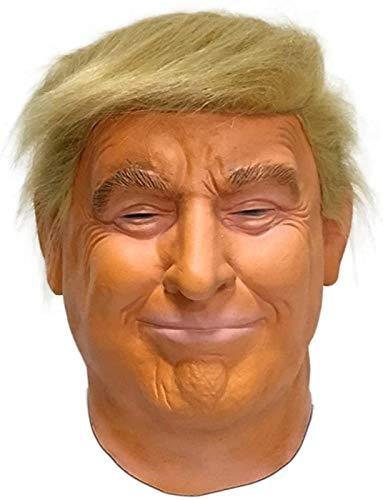 MIMIKRY Donald Trump latexmasker met haar en zelfbruiner, president, politici, VS