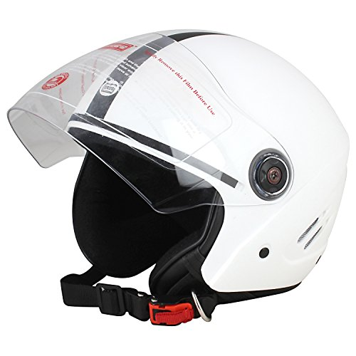 Dass Getz ISI Unisex Polycarbonate Open Face Helmet, Large (White)