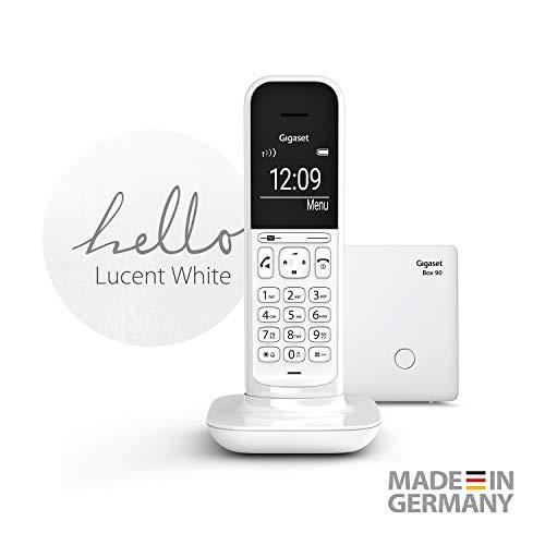 Gigaset CL390 schnurloses Design-Telefon ohne Anrufbeantworter - DECT Telefon mit Freisprechfunktion, großem Grafik Display - leicht zu bedienen mit intuitiver Menüführung, Lucent White