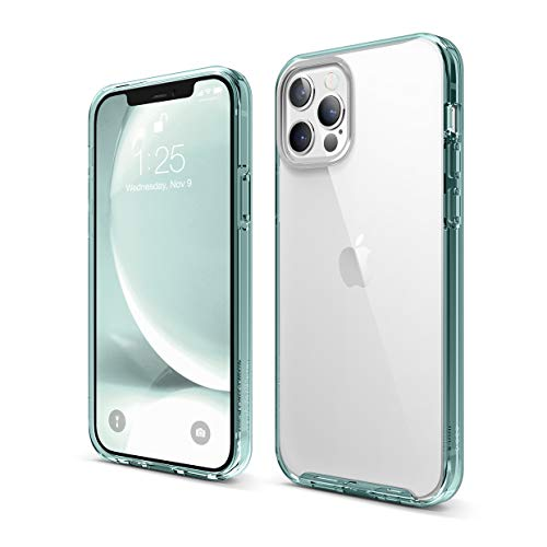elago Hybrid Clear Case Compatible with iPhone 12 and Compatible with iPhone 12 Pro 6.1 Inch (Mint Green) - Shockproof Bumper Cover Protective Case