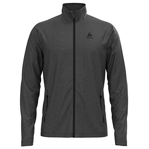 Odlo Herren Roy Full Zip Jacke, shale grey - black stripes, XL