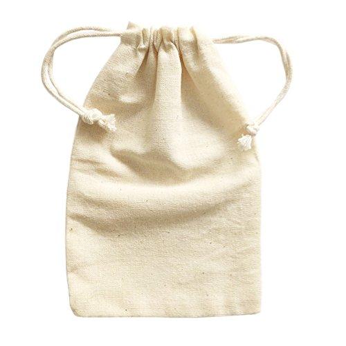 Doutop Stoffbeutel zum Bemalen Kleine Tasche Beutel Geldsack Geschenktüten Geburtstagstüten für Kinder Kindergeburtstag 6stk 10 x 15cm