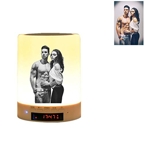 Kundengebundene Bluetooth-Musik beleuchtet personalisierte Weihnachtsgeschenke der Foto-Licht-LED(Schwarz und weiß printing 3.5inch*3.5inch*4.7inch)
