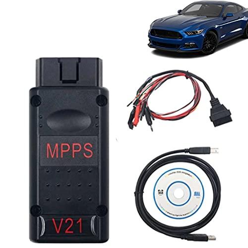 Herramienta de diagnóstico auto de Multiboot del cable del escáner de la sintonización del microprocesador de MPPS V21 Ecu