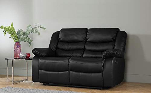 DProT Recliner Sofa Leather bonded Reclining Lazyboy Sofa Suite Sofas Chair 3 2 or 1 (2 Seater Sofa)