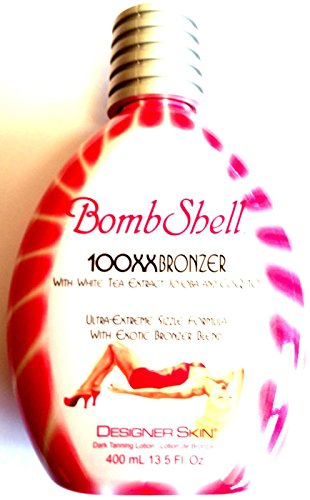 Bombshell Tanning Bed Lotion 100x Hot Tingle w/Bronzer By Designer Skin