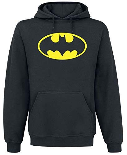 Batman Logo Sudadera, Negro (, X-Large para Hombre