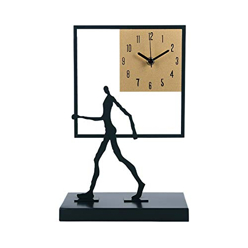 Hong Yi Fei-Shop Floor grandfather clocks Creative Metal Table Clock Is Both a Desktop Ornament and a Personalized Tabletop Clock, Which Can Be Used As a Gift for Friends desktop clock