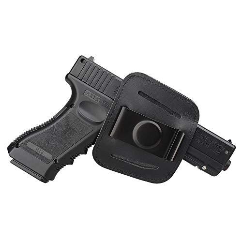 Gexgune Jagdholster Schwarze Pistolenholsterclip-Tasche für Glock 17 18 19 1911 Beretta 92 Pistole Taktische IWB OWB Lederholster