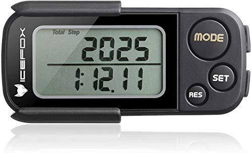 CSX Walking 3D Pedometer Fitness Calorie Monitor, White
