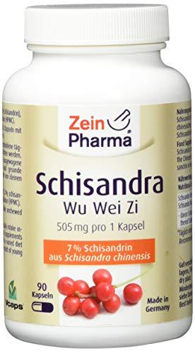 ZeinPharma Schisandra Chinensis 505 mg 90 Kapseln (6 Wochen Vorrat) aus der Wu-Wei-Zi Beere Hergestellt in Deutschland, 56 g