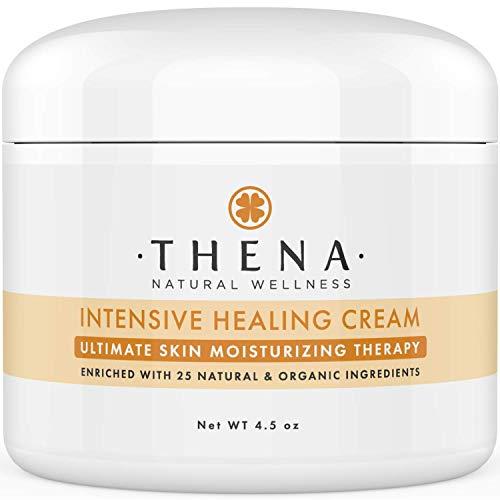 THENA Healing Cream For Eczema Psoriasis Dry Itchy Skin Rosacea Rashes Seborrheic Dermatitis Scalp Treatment Natural Organic Moisturizing Ointment Lotion...