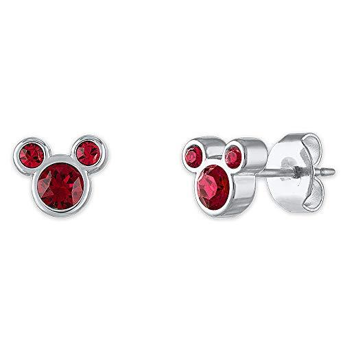 Disney Mickey Mouse Swarovski Crystal Birthstone Earrings- January
