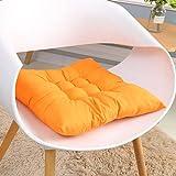 HUIJ Basic Sitzkissen für Innen- und Außenbereich 4er Set Stuhlkissen 40 x 40 cm Sitzkissen für...