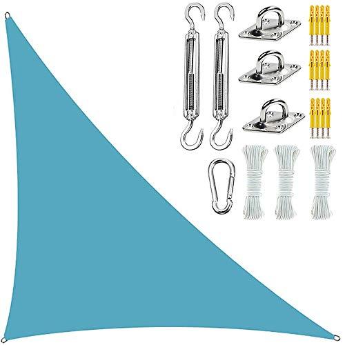 LQQZZZ Sun Shade Sail Triangle con Kit De Fijación, Jardín Patio Al Aire Libre Sun Shade Sail 300D Es Impermeable Y Resistente A Los Rayos UV Transpirable,5x5x7.1M