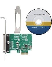 ASHATA PCI Express Tarjeta de Adaptador Paralelo, Puerto Paralelo DB25 Impresora LPT a PCI-E Express Adaptador de conversión de Tarjeta