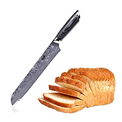Professional Chef Knife, Kitchen Knife, High Carbon German Steel Blade with Comfortable Ergonomic Handle, Anti Rust and Wear Resistant, Suitable for Restaurant and Home Kitchen-Kitchen Emperor