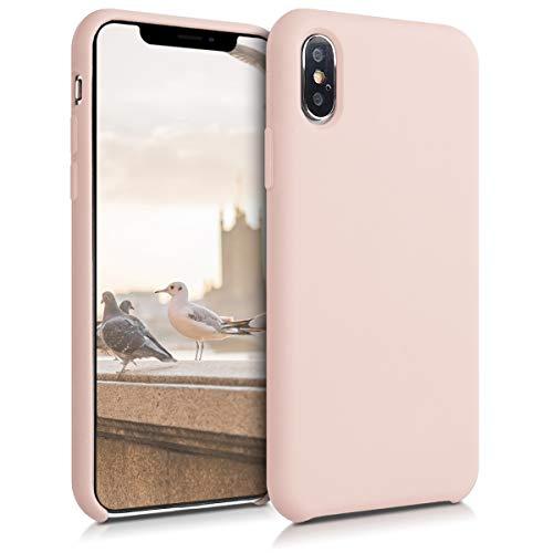 kwmobile Cover Compatibile con Apple iPhone XS - Custodia in Silicone TPU - Back Case Protezione Cellulare Rosa Antico