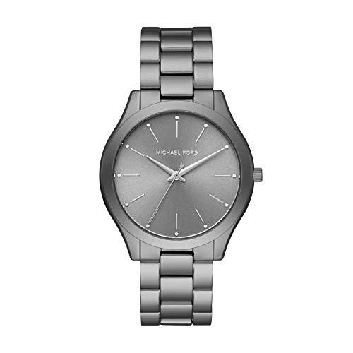 Michael Kors Women's Slim Runway Quartz Watch Strap, Metallic, 20 (Model: MK4506)