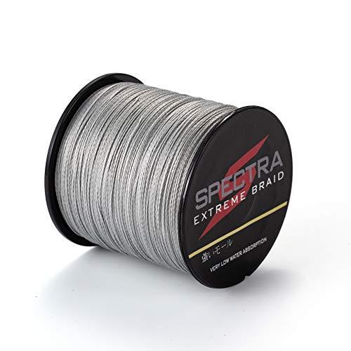 Spectra Extreme Braid - Hilo de pesca trenzado, resiste 2,7 a 136 kg, 100m a 2000m, color gris, 100m/109Yards 50lb/0.36mm