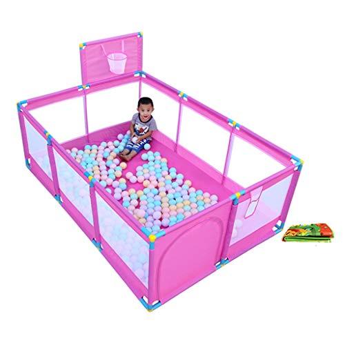 JIMI-I Baby Playpen Play Centre d'activités pour Enfants Sécurité Play Yard Home Indoor Outdoor (Couleur : Pink)