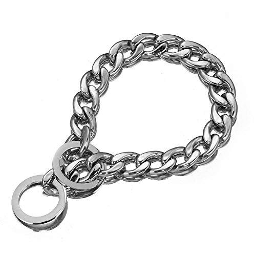 Collarzxy Halsband Halsband Für Hunde Mode Haustier Hund Liefert Kubanische Kette Hochwertige 316L Edelstahl Hundehalsband 12'-32' -15Mm_16Inch_Or_40Cm