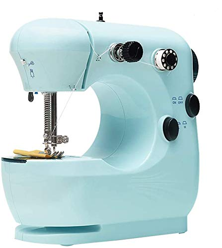 [7-Day Delivery] Balhvit Mini Portable Sewing Machine, Small Electric Crafting Mending Machine for Household Kids Beginners, Sewing All Types of Fabrics with Ease