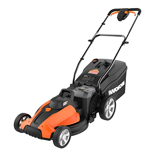 Worx WG744 17-inch 40V (4.0Ah) Cordless Lawn Mower, 2 Batteries and Charger...