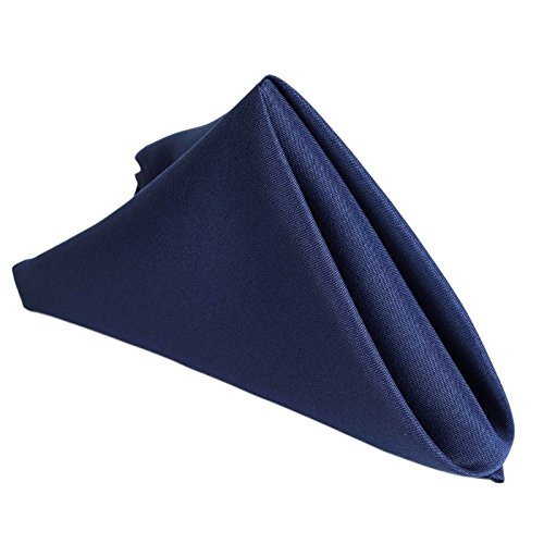 BalsaCircle 10 pcs 17-Inch Navy Blue Polyester Luncheon Napkins for Wedding Reception Events Catering Restaurant Kitchen Decoration