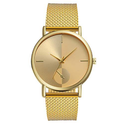 Powzz ornament Reloj de cuarzo de la banda del plástico del reloj de los hombres de la manera monocular