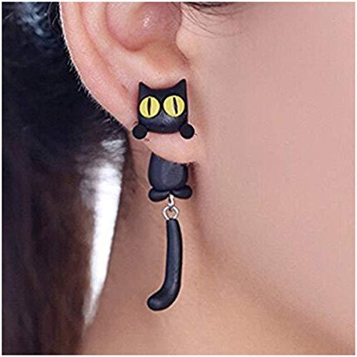 Doitsa Boucles d'oreilles Chaton Mignon Earrings, Créatif Chat Boucles d'oreilles pour Hommes...
