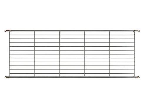Balton Gitterboden BIII mit 4 Beschlägen für Regal Systeme, Metall, Chrom, 104 x 38 x 2 cm