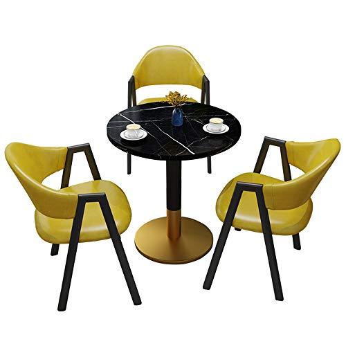 JU FU Tisch- und Stuhlkombination, Licht Luxus-Familien Hof Freizeit Tisch und Stuhl Kombination Balkon europäischer Tisch und Stuhl 4-teiliges Set, 14 Farben verfügbar