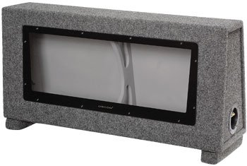 "OBCON Dual 10"" Small Series Sealed Competition Enclosure for for Jeep Wrangler(1997-2007), Ford Mustang(1997-2004), and SUV's with 3rd Row Seats(All Years) -.88 cf airspace"